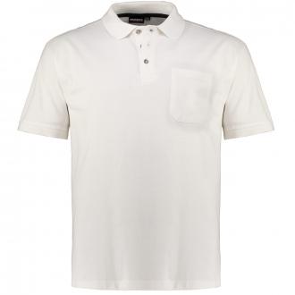 Poloshirt mit aufgesetzter Brusttasche, kurzarm weiß_100 | 3XL