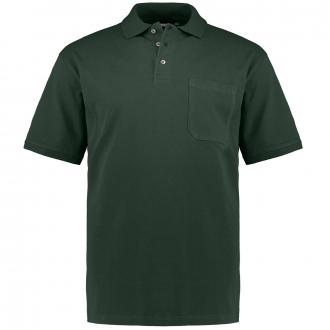 Poloshirt mit aufgesetzter Brusttasche, kurzarm dunkelgrün_480 | 3XL