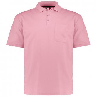 Poloshirt mit aufgesetzter Brusttasche, kurzarm altrosa_501 | 3XL