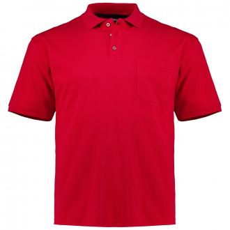 Poloshirt mit aufgesetzter Brusttasche, kurzarm rot_520 | 3XL