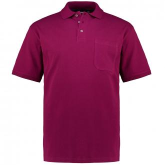 Poloshirt mit aufgesetzter Brusttasche, kurzarm beere_570   3XL
