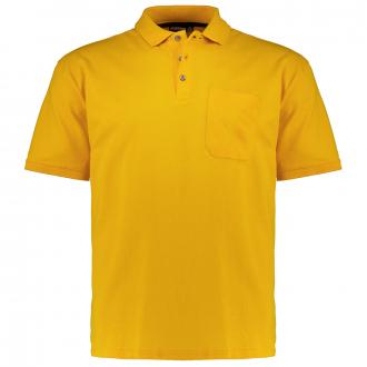 Poloshirt mit aufgesetzter Brusttasche, kurzarm gelb_620   3XL