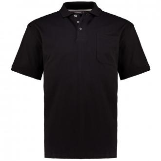 Poloshirt mit aufgesetzter Brusttasche, kurzarm schwarz_700 | 3XL