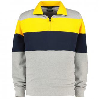 Troyer-Sweatshirt in Blocking-Colour-Optik grau_2600 | 3XL