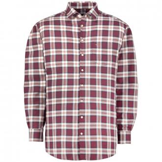Großkariertes Freizeithemd, langarm rot/weiß_358/5020 | 3XL