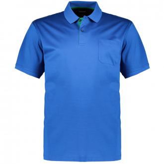Klassisches Poloshirt mit Brusttasche, kurzarm mittelblau_2275   4XL