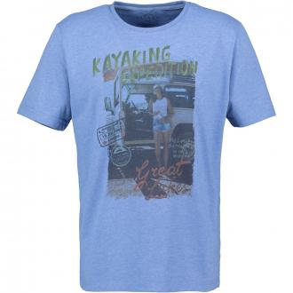 """T-Shirt mit """"KAYAKING EXPEDITION"""" Print blau_5279   4XL"""