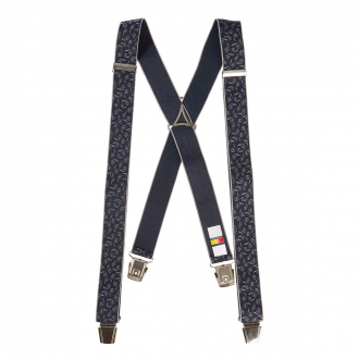 Hosenträger mit feinem Paisleymustter, extralang blau_522 | 130