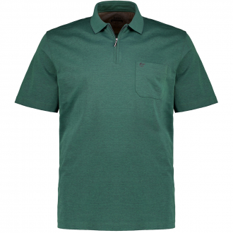 "Poloshirt ""Stay Fresh"" mit Zip, kurzarm waldgrün_538/69 | 58"