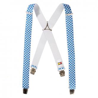 Hosenträger mit Vichy-Karo, extralang blau/weiß_507/4020   130