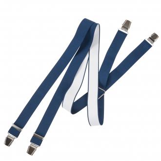 Breiter Hosenträger mit extra starken Clips blau_505 | 130