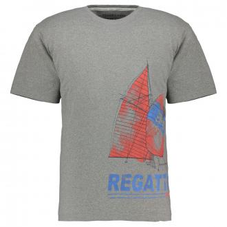 Modernes T-Shirt Segelprint hellgrau_5130   3XL