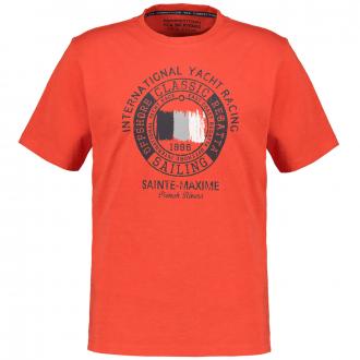 Lässiges T-Shirt mit Frontprint rot_4021 | 3XL