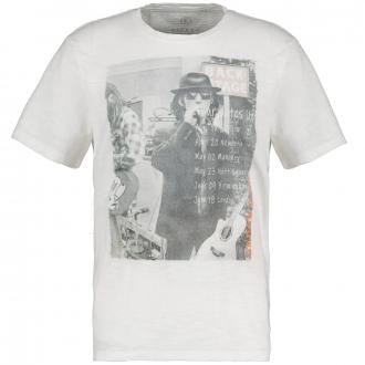 Lässiges T-Shirt mit Vintage Print weiß_609/20 | 4XL