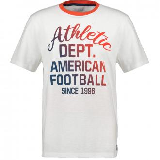 Sportliches T-Shirt mit farbigem Frontprint weiß_609/20 | 3XL