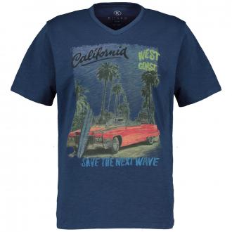 "T-Shirt mit großem ""California-West Coast""-Print graublau_213 | 4XL"