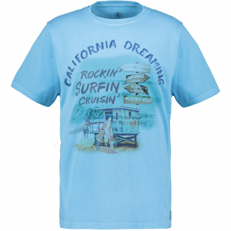 "Trendiges T-Shirt mit ""California Dreaming"" Print türkis_2254 | 3XL"