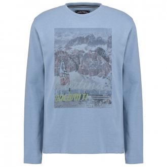 "Langarmshirt mit großem ""Cortina""-Print blau_52236 | 3XL"