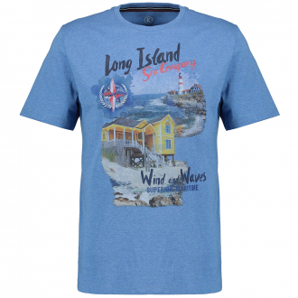 "T-Shirt ""Long Island"" blau_52240 