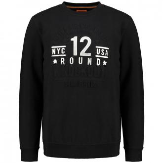 Cooles Sweatshirt mit 3D-Frontprint schwarz_100 | 5XL