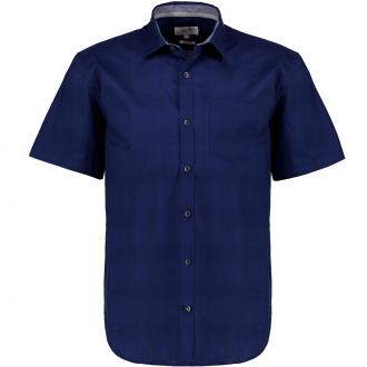 Strukturiertes Freizeithemd mit Stretch, kurzarm blau_5693   3XL