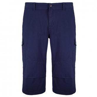 3/4-Short mit Stretch im Cargostyle blau_5693 | W46