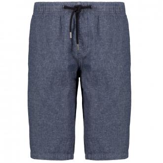 Short im Jeanslook aus Baumwoll-/Leinenmix graublau_56W0/39 | 3XL