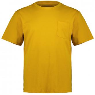 Melange-T-Shirt mit Brusttasche curry_15W0   3XL