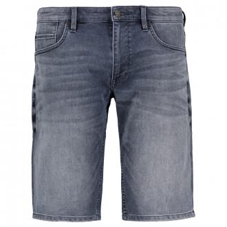 Elastische Jeansshort mit Waschung graublau_58Z7/39   W44