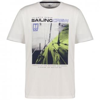 T-Shirt mit maritimen Print, kurzarm weiß_10101 | 4XL
