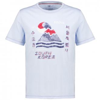 """T-Shirt mit Print """"Seoul"""",  kurzarm hellblau_10700   3XL"""