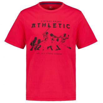 T-Shirt mit Baseball-Motiv rot_10405 | 3XL