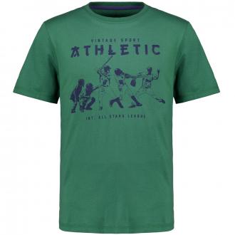 T-Shirt mit Baseball-Motiv grün_10605 | 3XL