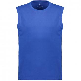 Ärmelloses T-Shirt in Used-Optik jeansblau_10701   3XL