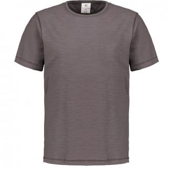 T-Shirt mit Dip-Dye-Effekt, kurzarm anthrazit_10902 | 3XL