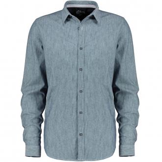 Lässiges Freizeithemd mit Muster blau_56A1 | 3XL