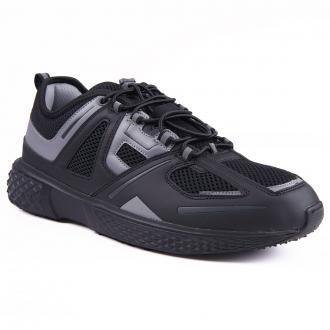 "Sneaker ""Fly River"" aus Materialmix schwarz_C00 | 43"