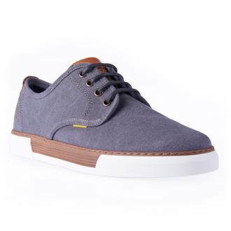 "Canvas Sneaker ""Bayland"", low graublau_C67/39 | 43"