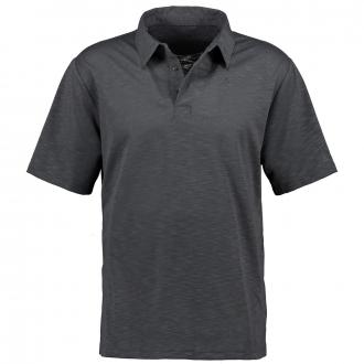 Funktionales Poloshirt in leicht melierter Optik, kurzarm anthrazit_9830   60