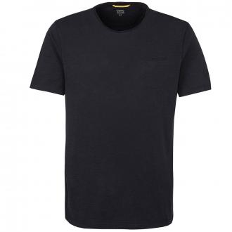 Schlichtes T-Shirt mit Brusttasche, kurzarm blau_19   3XL