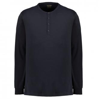 edles Henley-Shirt Voyage, langarm dunkelblau_3000 | 3XL