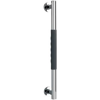 Edelstahl Wandhaltegriff mit Soft-Touch Griffen grau_30 | One Size
