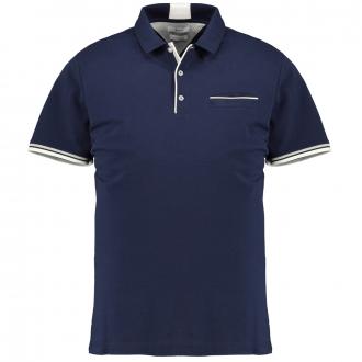 Hochwertiges Poloshirt mit kontrastfarbenen Akzenten marine_23/410   3XL