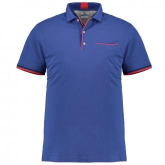 Hochwertiges Poloshirt mit kontrastfarbenen Akzenten königsblau_25 | 6XL