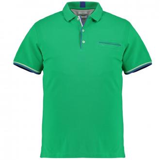 Hochwertiges Poloshirt mit kontrastfarbenen Akzenten apfelgrün_36 | 3XL