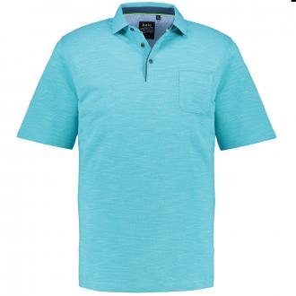 Bügelfreies Shirt mit Hemdkragen in Stay-Fresh Qualität, kurzarm türkis_606 | 6XL