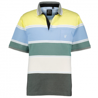Bügelfreies Poloshirt in Stay-Fresh Qualität blau/grün_526/4060 | 6XL