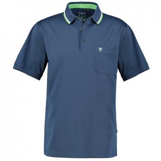 Bügelfreies Poloshirt mit Stretch-Anteil, kurzarm blau_638 | 5XL