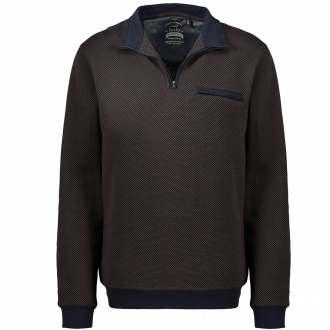 Sweatshirt mit Schachbrettmuster und stayfresh-Qualität dunkelblau_609 | 3XL