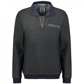 Meliertes Sweatshirt in stayfresh-Qualität dunkelblau_609   3XL